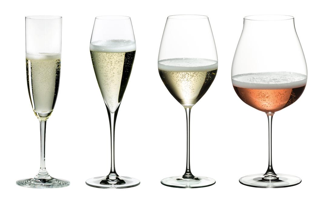tulip shaped white wine glasses