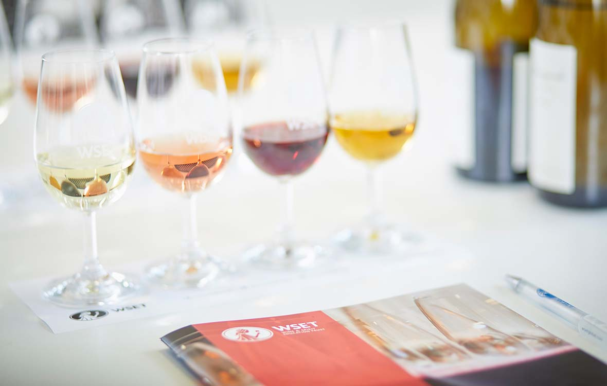 WSET Level 1 Award in Wines study materials and tasting samples